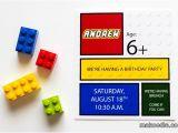 Lego Party Invitations Free Online Lego Invitation Makoodle
