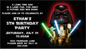 Lego Star Wars Birthday Invitation Template Free Printable Star Wars Lego Birthday Invitations