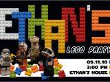 Lego Star Wars Birthday Invitation Template Star Wars Lego Birthday Invitations