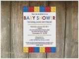 Lego themed Baby Shower Invitations Baby Shower Invitation Best Lego Baby Shower