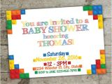 Lego themed Baby Shower Invitations Baby Shower Invitation Lego Invitation Lego by Julieprintables