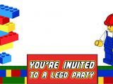 Lego themed Baby Shower Invitations Free Printable Lego Invitation Templates
