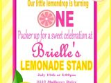 Lemonade Birthday Party Invitations Pink Lemonade Birthday Invitation Pink Lemondade Birthday