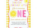 Lemonade Birthday Party Invitations Sunshine and Lemonade Sunshine Birthday Invitation