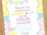 Lemonade Birthday Party Invitations Vintage Lemonade Printable Birthday Invitation Vintage