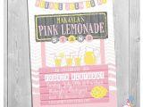 Lemonade Stand Birthday Party Invitations Lemonade Invitation Lemonade Stand Birthday Pink