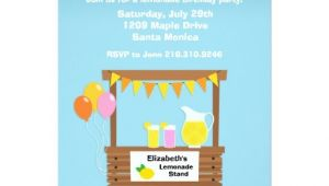 Lemonade Stand Birthday Party Invitations Lemonade Stand Birthday Party Invitation