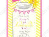 Lemonade Stand Birthday Party Invitations Pink Lemonade Collection