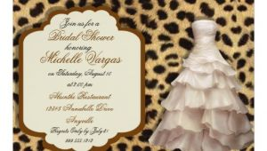 Leopard Bridal Shower Invitations Custom Leopard Print Bridal Shower Invitations