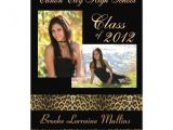 Leopard Graduation Invitations Leopard Animal Print Graduation Announcement 5 Quot X 7