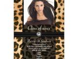 Leopard Graduation Invitations Leopard Ribbon Photo Graduation 5 Quot X 7 Quot Invitation Card