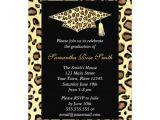 Leopard Graduation Invitations Personalized Cheetah Print Invitations