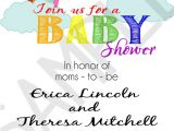 Lesbian Baby Shower Invitations Rainbow Moms Lesbian Parents Printable by eventsyoucanprint