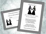 Lesbian Wedding Invitations Wording Lesbian Wedding Invitation Commitment Ceremony Girl