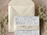 Light In the Box Wedding Invitations Custom Listing Light Grey and Ecru Wedding Invitation La