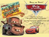 Lightning Mcqueen and Mater Birthday Invitations Cars Party Invitation Mater and Mcqueen