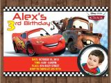 Lightning Mcqueen and Mater Birthday Invitations Personalized Disney Cars Lightning Mcqueen tow Mater Diy