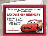 Lightning Mcqueen Birthday Party Invitations Cars Birthday Invitation Lightning Mcqueen Birthday