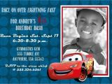 Lightning Mcqueen Birthday Party Invitations Disney Cars 2 Lightning Mcqueen Birthday Invitation 5×7