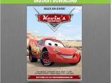 Lightning Mcqueen Birthday Party Invitations Disney Cars Lightning Mcqueen Birthday Invitation Instant