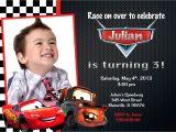 Lightning Mcqueen Birthday Party Invitations Disney Cars Lightning Mcqueen Mater Birthday Party Invitation
