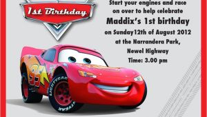 Lightning Mcqueen Birthday Party Invitations Free Lightning Mcqueen Party Invitation Templates