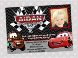 Lightning Mcqueen Birthday Party Invitations Items Similar to Disney Cars Lightning Mcqueen and Mater