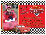 Lightning Mcqueen Birthday Party Invitations Lightning Mcqueen Cars Birthday Invitation Custom