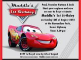Lightning Mcqueen Birthday Party Invitations Lightning Mcqueen Party Invitation Templates