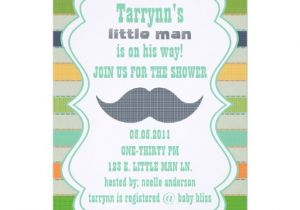 "Lil Man Baby Shower Invitations Little Man Baby Shower & Birthday Invitation 5"" X 7"