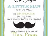 Lil Man Baby Shower Invitations Little Man Baby Shower Invitation Printable by Partypopinvites