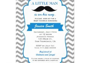 Lil Man Baby Shower Invitations Little Man Mustache Baby Shower Invitation