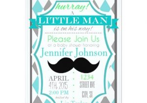 Lil Man Baby Shower Invitations Little Man Mustache Baby Shower Invitations