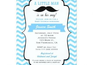 Lil Man Baby Shower Invitations Mustache Little Man Baby Shower Invitation