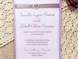 Lilac and Silver Wedding Invitations Affordable Pearl Silver Ribbon Lilac Layered Wedding Cards