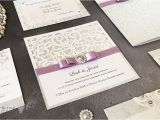 Lilac and Silver Wedding Invitations How to Make Sparkling Laser Cut Wedding Stationery