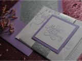 Lilac and Silver Wedding Invitations Real Wedding Maria and Zachary Lavender and Silver