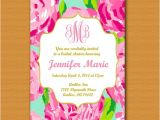 Lilly Pulitzer Birthday Invitations Lilly Pulitzer Inspired Invitation Monogrammed
