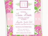 Lilly Pulitzer Birthday Invitations Lilly Pulitzer Inspired Invitations Birthday Invitations