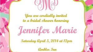 Lilly Pulitzer Birthday Invitations Lilly Pulitzer Invitations Cobypic Com