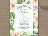 Lily Baby Shower Invitations Baby Shower Invitation Pink Lilies Printed Nifty Printables