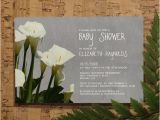 Lily Baby Shower Invitations Calla Lily Baby Shower Invitation Template Girl by
