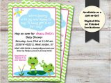 Lily Baby Shower Invitations Frogs Baby Shower Invitation Lily Pad Baby Shower