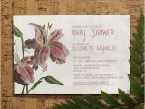 Lily Baby Shower Invitations oriental Lily Baby Shower Invitation Template by