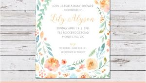 Lily Baby Shower Invitations Printable the Lily Baby Shower Invitation