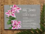 Lily Baby Shower Invitations Stargazer Lily Baby Shower Invitation Template by