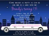 Limo Birthday Party Invitations 17 Best Images About Party Invitations On Pinterest