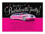 Limo Birthday Party Invitations Bachelorette Party Girls 39 Night Out Stretch Limo 13 Cm X