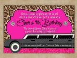 Limo Birthday Party Invitations Limo Glam Birthday Digital Invitation