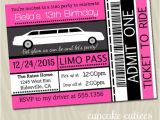 Limo Birthday Party Invitations Limo Ticket Full 5×7 or 4×6 Invite by Cupcakecutieesparty